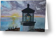 Cape Meares Lighthouse Oregon  Greeting Card