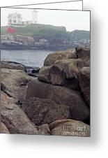 Cape Neddick Lighthouse York Maine Greeting Card
