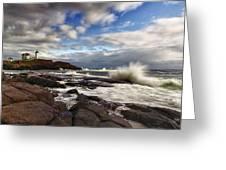 Cape Neddick Maine Greeting Card by Rick Berk
