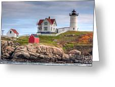 Cape Neddick Nubble Lighthouse I Greeting Card