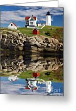 Cape Neddick Reflection - D003756a Greeting Card by Daniel Dempster