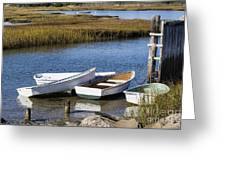 Cape Rowboats Greeting Card