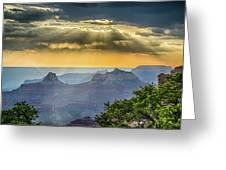 Cape Royal Crepuscular Rays Greeting Card