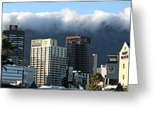 Cape Town - Smoking Mountain Greeting Card