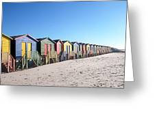 Cape Town Beachhuts Greeting Card
