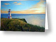 Cape Tryon Lighthouse Greeting Card