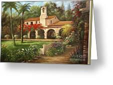 Capistrano Courtyard Greeting Card