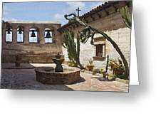 Capistrano Mission Courtyard Greeting Card