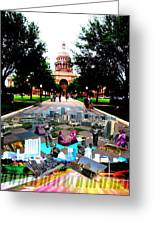 Capital Collage Austin Music Greeting Card by James Granberry