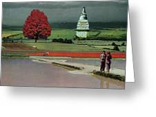 Capital Fields Greeting Card