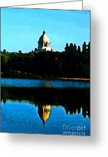 Capital Lake Greeting Card