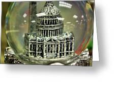 Capital Snow Globe  Greeting Card
