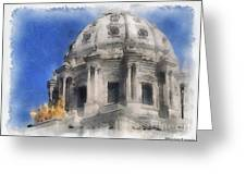 Capitol Dome St Paul Minnesota Greeting Card