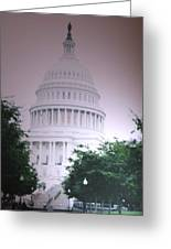 Capitol In Pink Greeting Card
