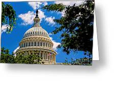 Capitol Of The United States Greeting Card