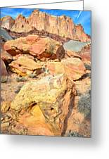 Capitol Reef Rock Fall Greeting Card