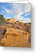 Capitol Reef Sunset Clouds Greeting Card