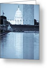 Capitol Reflections Iv Greeting Card