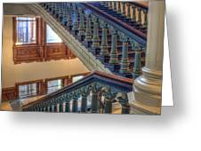 Capitol Stairwell Greeting Card