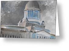 Capitol Turmoil Greeting Card