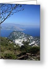 Capri At The Top Greeting Card
