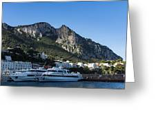 Capri Island Harbor  Greeting Card