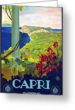Capri, Italy, Italian Riviera, Scenery Greeting Card