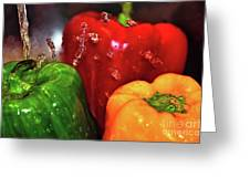 Capsicum In The Wash Greeting Card