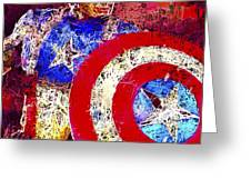 Captain America Greeting Card by Al Matra