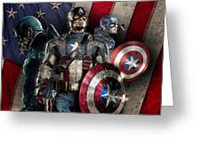 Captain America - America Greeting Card