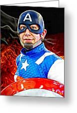 Captain America Super Hero Greeting Card