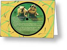 Captain And Tennille Greatest Hits Lp Label Greeting Card