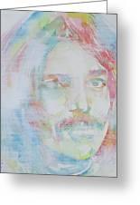 Captain Beefheart - Watercolor Portrait.6 Greeting Card