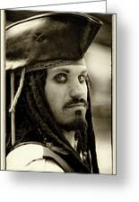 Captain Jack Sparrow Greeting Card by David Patterson