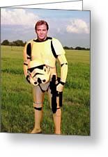 Captain James T Kirk Stormtrooper Greeting Card
