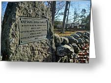 Captain John Locke Monument  Greeting Card by Wayne Marshall Chase