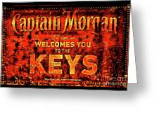 Captain Morgan The Florida Keys Greeting Card
