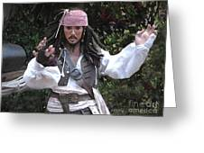 Captain Sparrow Greeting Card