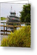 Captains Boat Greeting Card