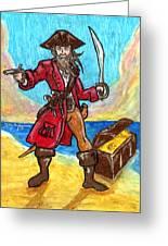 Captain's Treasure Greeting Card