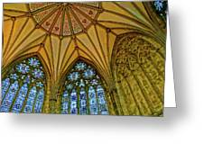 Chapter House Ceiling, York Minister Greeting Card