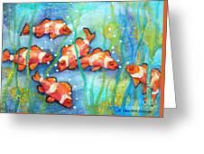 Captivating Clown Fish Greeting Card