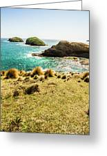 Captivating Coastal Cliff Greeting Card
