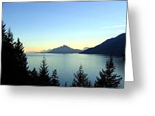 Captivating Howe Sound Greeting Card
