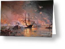 Capture Of New Orleans By Union Flag Officer David G Farragut Greeting Card