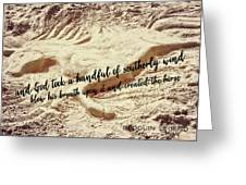 Captured In The Sand Quote Greeting Card