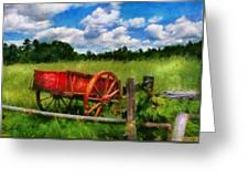 Car - Wagon - The Old Wagon Cart Greeting Card