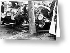 Car Accident, C1919 Greeting Card