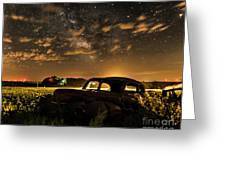 Car And The Milky Way Greeting Card
