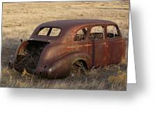 Car At Rust Greeting Card